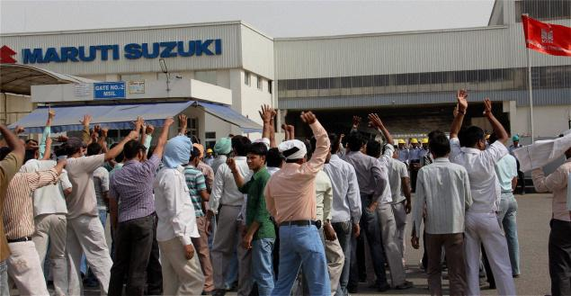 Maruti locks horns with its Union on recognition